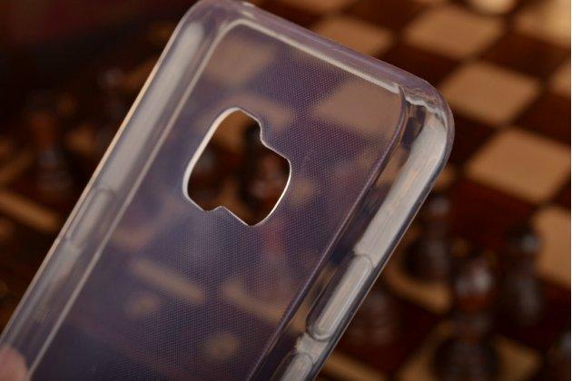 """Фирменная ультра-тонкая полимерная из мягкого качественного силикона задняя панель-чехол-накладка для  Samsung Galaxy A7 2016 / A7100 / A710F / A7+  5.5""""  прозрачная"""