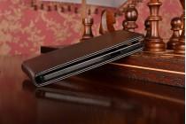 """Фирменный оригинальный вертикальный откидной чехол-флип для  Samsung Galaxy A7 2016 / A7100 / A710F / A7+  5.5""""  черный из натуральной кожи """"Prestige"""" Италия"""