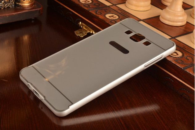Фирменная металлическая задняя панель-крышка-накладка из тончайшего облегченного авиационного алюминия для Samsung Galaxy A7 серебристая