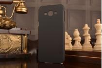 Фирменная задняя панель-крышка-накладка из тончайшего и прочного пластика для Samsung Galaxy A8 SM-A800F/DS/Dual Sim/Duos  черная