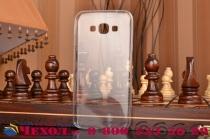 Фирменная ультра-тонкая полимерная из мягкого качественного силикона задняя панель-чехол-накладка для Samsung Galaxy A8 SM-A800F/DS/Dual Sim/Duos  белая