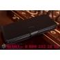 Фирменный чехол-книжка из качественной импортной кожи с мульти-подставкой застёжкой и визитницей для Самсунг Галакси А8 СМ-А800Ф ДС/ Дуал Сим/ Дуос черный