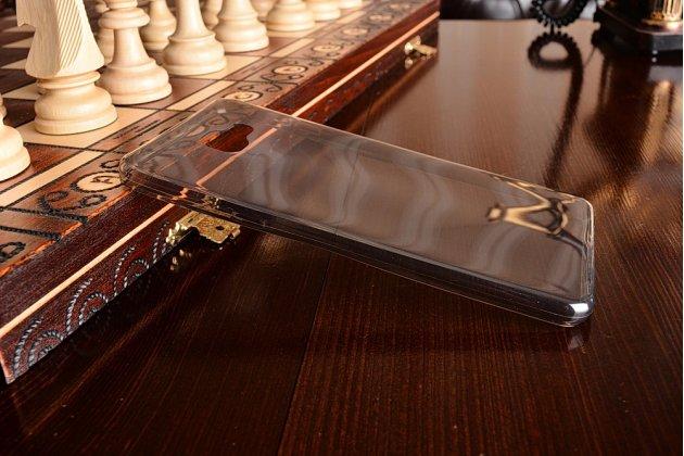 Фирменная ультра-тонкая полимерная из мягкого качественного силикона задняя панель-чехол-накладка для Samsung Galaxy A9 Pro SM-A910F/DS 6.0 серая