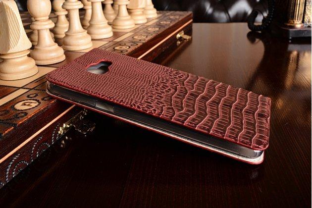 Фирменный роскошный эксклюзивный чехол с объёмным 3D изображением рельефа кожи крокодила красный для Samsung Galaxy A9 Pro SM-A910F/DS 6.0. Только в нашем магазине. Количество ограничено
