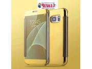 Чехол-книжка с дизайном Clear View Cover полупрозрачный с зеркальной поверхностью для Samsung Galaxy A9 Pro SM..