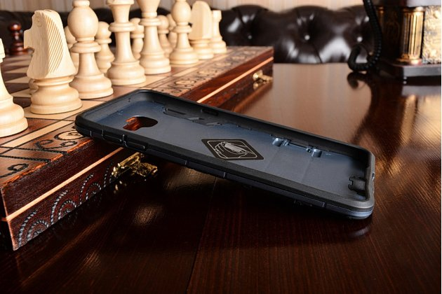 Противоударный усиленный ударопрочный фирменный чехол-бампер-пенал для Samsung Galaxy A9 Pro SM-A910F/DS 6.0 черный