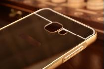 """Фирменная металлическая задняя панель-крышка-накладка из тончайшего облегченного авиационного алюминия для Samsung Galaxy A9 2016 A900F /A9000 6.0"""" золотая"""