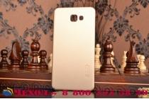 """Фирменная задняя панель-крышка-накладка из тончайшего и прочного пластика для  Samsung Galaxy A9 2016 A900F /A9000 6.0""""  золотая"""