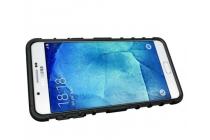 """Противоударный усиленный ударопрочный фирменный чехол-бампер-пенал для  Samsung Galaxy A9 2016 A900F /A9000 6.0""""  черный"""