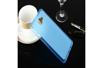 """Фирменная ультра-тонкая полимерная из мягкого качественного силикона задняя панель-чехол-накладка для Samsung Galaxy A9 2016 A900F /A9000 6.0"""" голубая"""