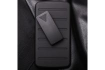 Противоударный усиленный ударопрочный фирменный чехол-бампер-пенал для Samsung GALAXY Ace 4 Duos SM-G313HU/DS черный