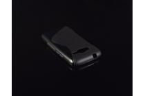 Фирменная ультра-тонкая полимерная из мягкого качественного силикона задняя панель-чехол-накладка для Samsung GALAXY Ace 4 Duos SM-G313HU/DS черная