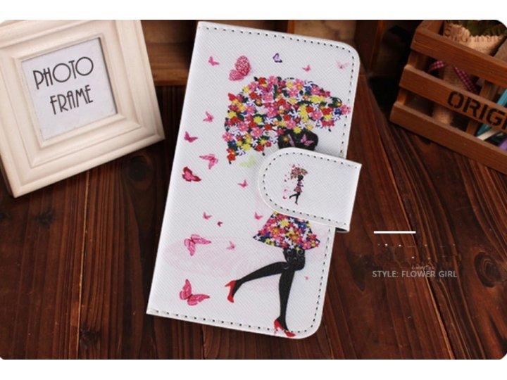 Фирменный уникальный необычный чехол-книжка для Samsung Galaxy Ace Style LTE SM-G357FZ