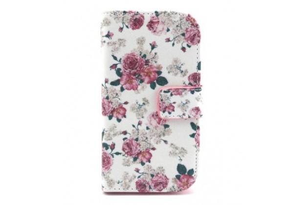 """Фирменный уникальный необычный чехол-книжка для Samsung Galaxy Ace Style LTE SM-G357FZ """"тематика Розы"""""""