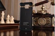 Чехол-бампер со встроенной усиленной мощной батарей-аккумулятором большой повышенной расширенной ёмкости 2600mAh для Samsung Galaxy Alpha SM-G850F черный + гарантия