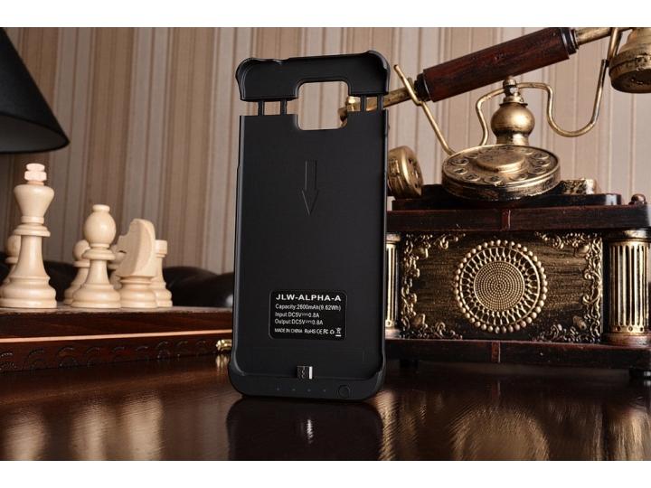 Чехол-бампер со встроенной усиленной мощной батарей-аккумулятором большой повышенной расширенной ёмкости 2600m..