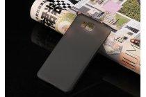 Фирменная задняя панель-крышка-накладка из тончайшего и прочного пластика для Samsung Galaxy Alpha SM-G850F черная