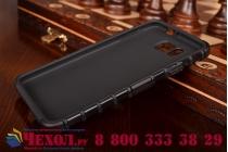 Противоударный усиленный ударопрочный фирменный чехол-бампер-пенал для Samsung Galaxy Alpha SM-G850F черный