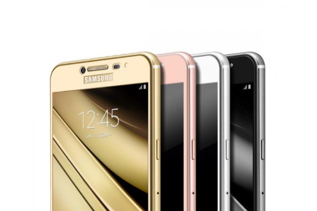Фирменное 3D защитное изогнутое стекло с закругленными изогнутыми краями которое полностью закрывает экран / дисплей по краям с олеофобным покрытием для Samsung Galaxy C5 Pro / Galaxy C5 2017 (SM-C5010)