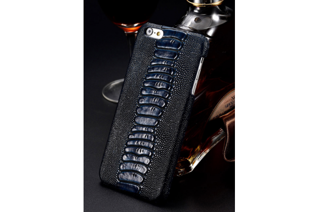 Фирменная элегантная экзотическая задняя панель-крышка с фактурной отделкой натуральной кожи крокодила синего цвета для Samsung Galaxy C5 Pro / Galaxy C5 2017 (SM-C5010) . Только в нашем магазине. Количество ограничено.