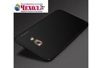 Фирменная задняя панель-крышка-накладка из тончайшего и прочного пластика для Samsung Galaxy C5 Pro / Galaxy C5 2017 (SM-C5010) черная