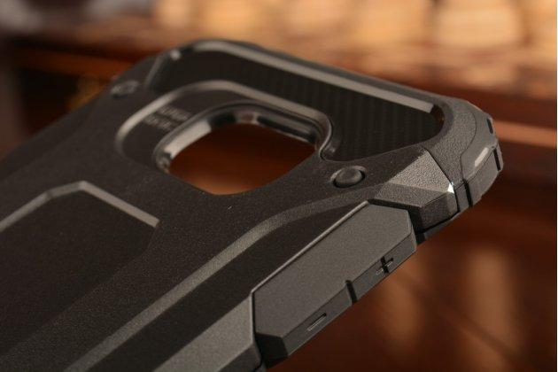"""Противоударный усиленный ударопрочный фирменный чехол-бампер-пенал для Samsung Galaxy C5 (C5000) 5.2""""  черный с подставкой"""