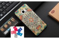 """Фирменная уникальная задняя панель-крышка-накладка из тончайшего силикона для Samsung Galaxy C5 (C5000) 5.2"""" с объёмным 3D рисунком """"тематика Эклектические Узоры"""""""