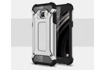 """Противоударный усиленный ударопрочный фирменный чехол-бампер-пенал для Samsung Galaxy C5 (C5000) 5.2""""  серый с подставкой"""