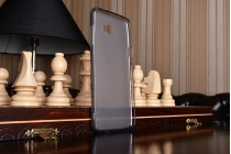 Фирменная ультра-тонкая полимерная из мягкого качественного силикона задняя панель-чехол-накладка для Samsung Galaxy C7 Pro SM-C7010 серая