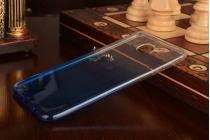 """Фирменная ультра-тонкая полимерная задняя панель-чехол-накладка из силикона для Samsung Galaxy C7(C7000) 5.7"""" прозрачная с эффектом дождя"""