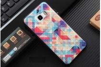 """Фирменная роскошная задняя панель-чехол-накладка из мягкого силикона с объемным  3D изображением на Samsung Galaxy C7(C7000) 5.7"""" с безумно красивым рисунком  """"Тематика Яркая Мозайка"""""""