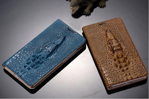 """Фирменный роскошный эксклюзивный чехол с объёмным 3D изображением кожи крокодила коричневый для  Samsung Galaxy C7(C7000) 5.7"""". Только в нашем магазине. Количество ограничено"""