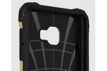 """Противоударный усиленный ударопрочный фирменный чехол-бампер-пенал для Samsung Galaxy C7(C7000) 5.7""""  золотой с подставкой"""