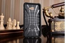 """Противоударный усиленный ударопрочный фирменный чехол-бампер-пенал для Samsung Galaxy C7(C7000) 5.7""""  черный с подставкой"""