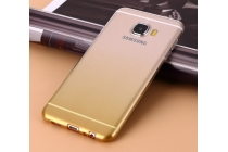 """Фирменная ультра-тонкая полимерная задняя панель-чехол-накладка из силикона для  Samsung Galaxy C7(C7000) 5.7""""  прозрачная  с эффектом песка"""