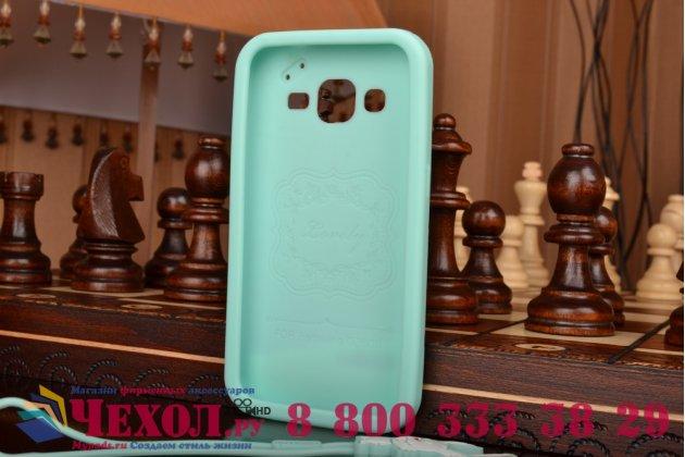 """Фирменная необычная уникальная полимерная мягкая задняя панель-чехол-накладка для Samsung Galaxy Core Prime G360 """"тематика Андроид в мятном шоколаде"""""""