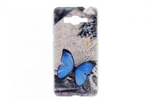 """Фирменная необычная уникальная пластиковая задняя панель-чехол-накладка для Samsung GALAXY Core Prime SM-G360H """"тематика Бабочка"""""""