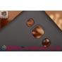 Фирменная задняя панель-крышка-накладка из тончайшего и прочного пластика для Samsung Galaxy E5 черная..