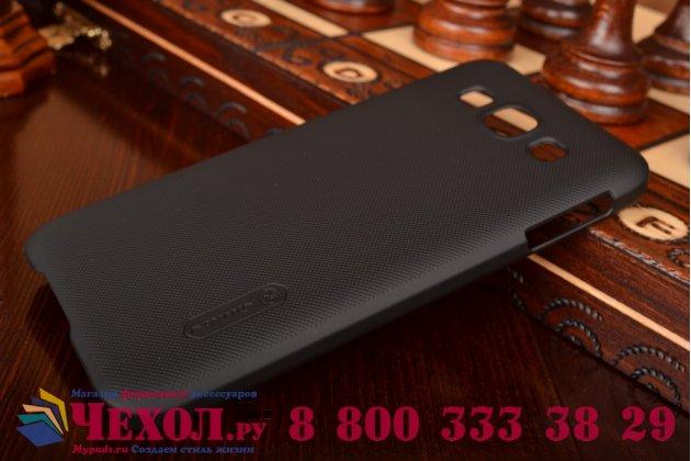 Фирменная задняя панель-крышка-накладка из тончайшего и прочного пластика для Samsung Galaxy E5 черная