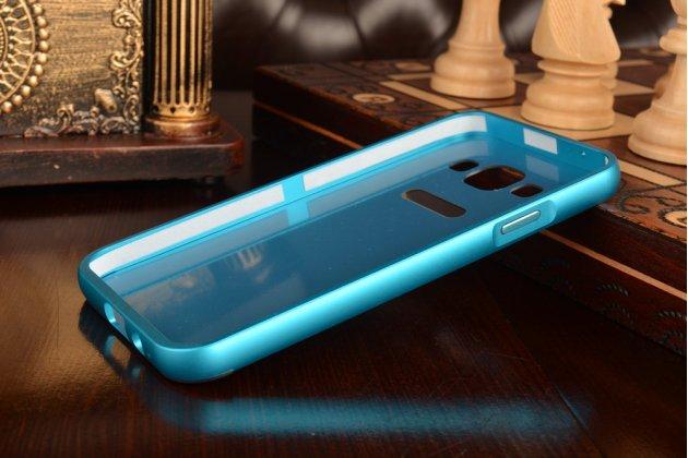 Фирменная металлическая задняя панель-крышка-накладка из тончайшего облегченного авиационного алюминия для Samsung Galaxy E5 синяя