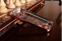 """Фирменная роскошная задняя панель-чехол-накладка из мягкого силикона с объемным 3D изображением для Samsung Galaxy J1 2016 SM-J120F/H DuoS с безумно красивым рисунком """"тематика Цветущая сакура"""""""
