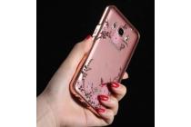 """Фирменная металлическая задняя панель-крышка-накладка из тончайшего облегченного авиационного алюминия с 3D рисунком для Samsung Galaxy J1 2016 SM-J120F/H DuoS """"тематика Цветущая сакура"""""""