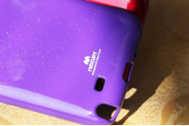 Фирменная ультра-тонкая полимерная из мягкого качественного силикона задняя панель-чехол-накладка для Samsung Galaxy J1 2016 SM-J120F/H DuoS фиолетовая