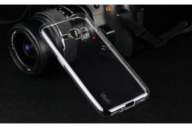 Фирменная ультра-тонкая полимерная из мягкого качественного силикона задняя панель-чехол-накладка для Samsung Galaxy J1 2016 SM-J120F/H DuoS прозрачная