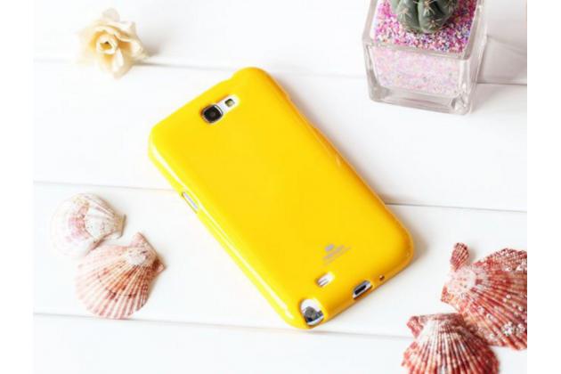 Фирменная ультра-тонкая полимерная из мягкого качественного силикона задняя панель-чехол-накладка для Samsung Galaxy J1 2016 SM-J120F/H DuoS желтая