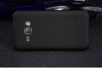 Фирменная задняя панель-крышка-накладка из тончайшего и прочного пластика для Samsung Galaxy J1 2016 SM-J120F/H DuoS черная