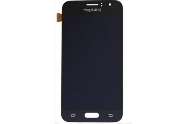 Фирменный LCD-ЖК-сенсорный дисплей-экран-стекло с тачскрином на телефон Samsung Galaxy J1 2016 SM-J120F/H DuoS черный
