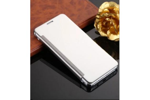 "Чехол-книжка с дизайном ""Clear View Cover""  для Samsung Galaxy J1 2016 SM-J120F/H DuoS серебристый"