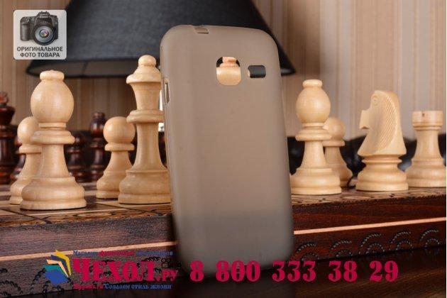 """Фирменная ультра-тонкая полимерная из мягкого качественного силикона задняя панель-чехол-накладка для for Samsung Galaxy J1 mini SM-J105F/H / J1 Mini 2016 4.0"""" серая"""