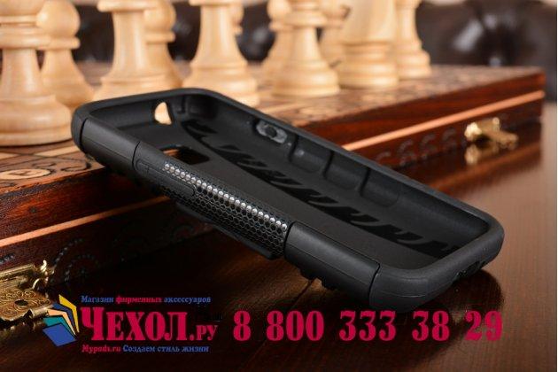 Противоударный усиленный ударопрочный фирменный чехол-бампер-пенал для Samsung Galaxy J1 mini SM-J105F/H / J1 Mini 2016 4.0 черный